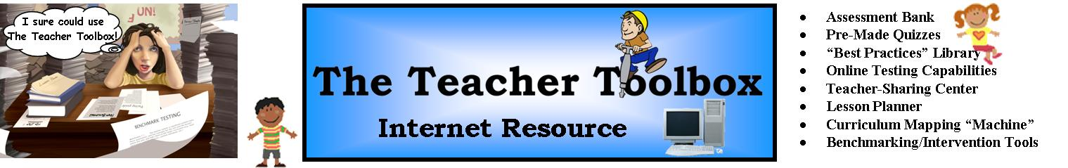 The Teacher Toolbox-online resource Packet: Purchase it now at a reduced price!